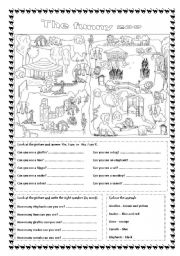 English Worksheet: The funny zoo (editable)