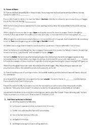 English Worksheets: Saint Francis of Assisi