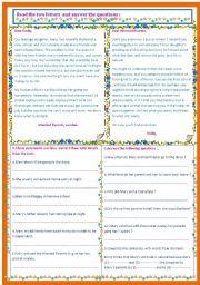 English Worksheet: worried parents