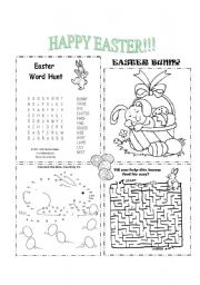 English Worksheets: Happy Easter!