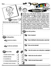English Worksheet: RC Series Famous People Edition_17 Socrates (Fully Editable + Key)