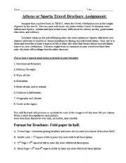 english worksheets sparta athens travel brochure. Black Bedroom Furniture Sets. Home Design Ideas