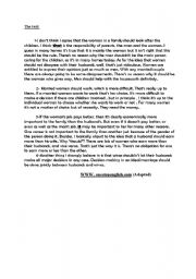 English Worksheets: full term test2