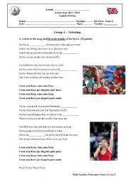 English Worksheet: Test on Sports