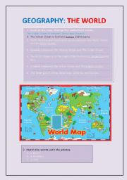 English Worksheets: Geography: The World