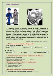 English Worksheets: Bribery