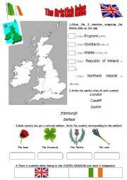 English Worksheet: The British Isles