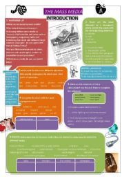 English Worksheet: THE MASS MEDIA 1/10 - Introduction (Vocabulary)