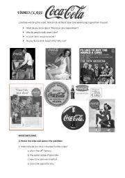 English Worksheet: Animated history of COCA COLA