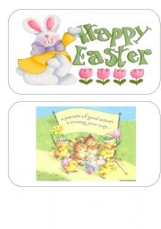 English Worksheet: Easter FLASH CARDS- SET 1