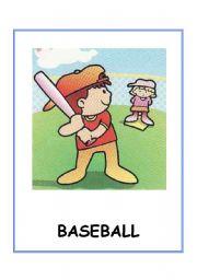 English Worksheet: Sports flashcards.10 flashcards fully editable