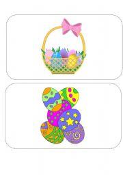 English Worksheet: Easter FLASH CARDS- SET 3 of 4