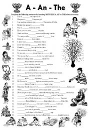 English Worksheets: Articles A-An-The (Editable with Answer Key)