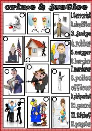 English Worksheets: crime and justice