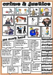 English Worksheet: crime and justice 2