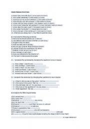 English Worksheet: Noun Clauses