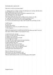 English Worksheet: Advaned lesson plan