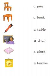 English Worksheet: Happy House 2 school objects