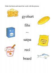 English worksheet: Happy House 2 food