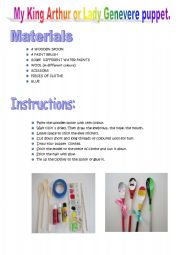English Worksheets: MAKE YOUR OWN PUPPET