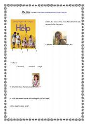 english worksheet the help the film. Black Bedroom Furniture Sets. Home Design Ideas
