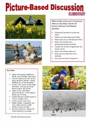English Worksheet: Picture-based discussion Elementary - (13) Weather
