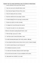 English Worksheets: mixed