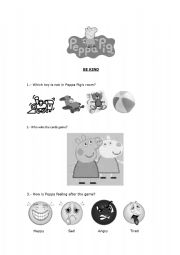 English Worksheets: Be kind with Peppa Pig