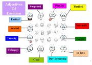 Adjectives of Emotion for Beginners Worksheet 1