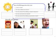 English worksheet: Adjectives of Emotion for Beginners Worksheet 2