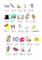short vowels a e i o u