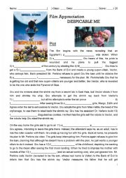 English Worksheet: Despicable Me