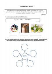 English Worksheet: What is alternative medicine? Part 1