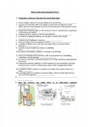 English Worksheet: What is alternative medicine? part 2