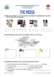 English Worksheets: The Media