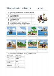 English Worksheets: the animals�orchestra