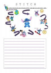 English Worksheets: WRITING- STITCH