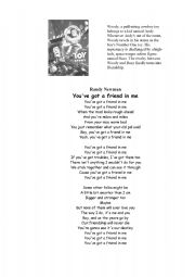 English Worksheet: Randy Newman - You´ve got a friend in me - SONG