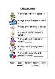 English Worksheets: Colletive Nouns