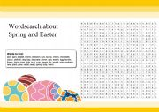English Worksheet: Spring and Easter Word search
