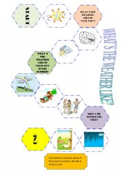 English Worksheet: WHAT�S THE WEATHER LIKE? BOARD GAME
