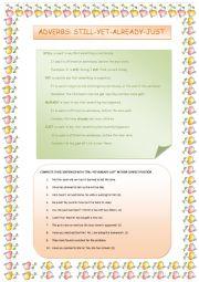 English Worksheet: ADVERBS