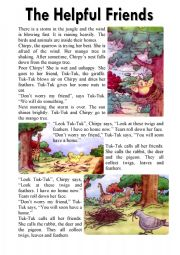 The Helpful Friends - Reading Comprehension (3 Pages ...