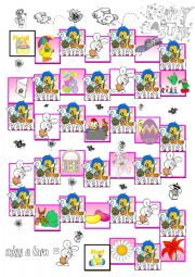 Easter boardgame Cards 1/2