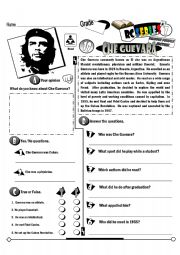 English Worksheet: RC Series Famous People Edition_19 Che Guevara (Fully Editable)