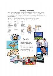 English Worksheet: Precise Paul and Intensifiers: somewhat, fairly, really, extremely