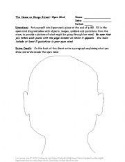 English worksheets: The House on Mango Street- Open Mind Portrait
