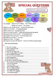 English Worksheets: Special / Wh - questions