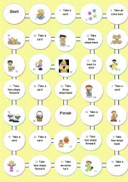 English Worksheet: EASTER BOARD GAME  (Page 1)