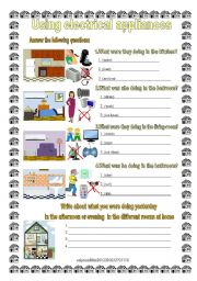English Worksheet: electrical appliances in the house